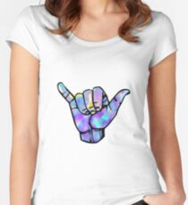 Shaka sign Women's Fitted Scoop T-Shirt
