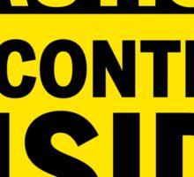 CAUTION - VR Content inside Sticker