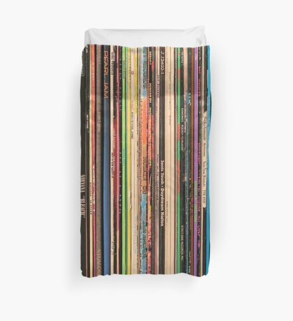 Classic Alternative Rock Records Duvet Cover