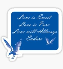 LOVE is SWEET. Stickers, Gifts, and Clothing. Sticker
