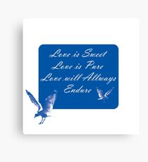 LOVE is SWEET. Stickers, Gifts, and Clothing. Canvas Print