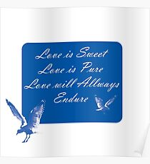LOVE is SWEET. Stickers, Gifts, and Clothing. Poster