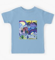 Dreamland - Landscape with Rainbows by Cecca Designs Kids Tee