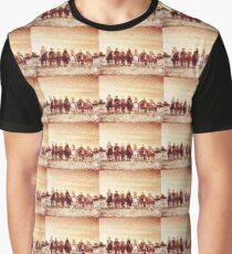 Seven Magnificent Riders in the sunset Graphic T-Shirt