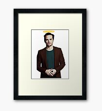 Andrew Scott with a halo Framed Print