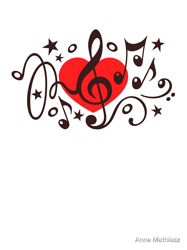 Heart Music Notes