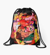 Three Scoops of Rocky Road Drawstring Bag