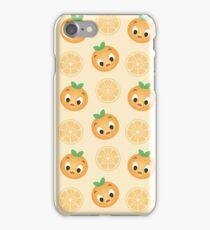 Little Orange Bird Pattern iPhone Case/Skin