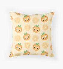 Little Orange Bird Pattern Throw Pillow