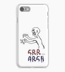 grr...argh with colour iPhone Case/Skin