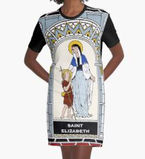 ST ELIZABETH, MOTHER OF ST JOHN THE BAPTIST under STAINED GLASS Graphic T-Shirt Dress