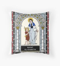 ST ELIZABETH, MOTHER OF ST JOHN THE BAPTIST under STAINED GLASS Throw Pillow