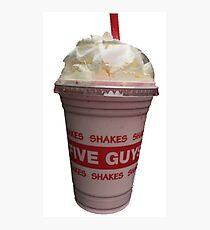 Five Guys Milkshake Photographic Print