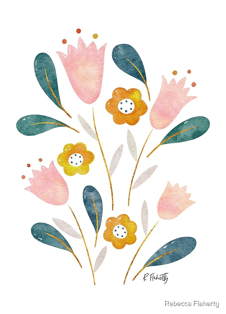 Happy Tulips by Rebecca Flaherty