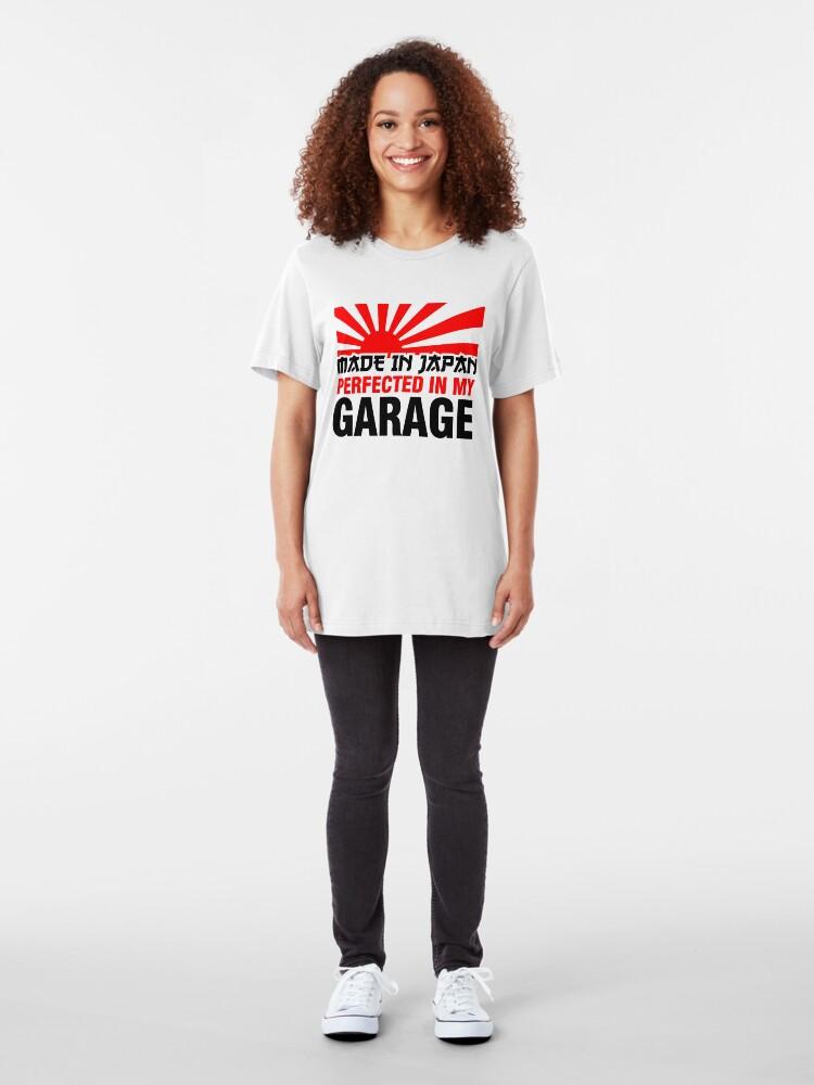 Vista alternativa de Camiseta ajustada Hecho en Japón PERFECCIONADO EN MI GARAJE (3)