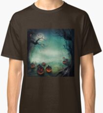 halloween,pumpkins,bats,crows,desolate forest,dark and gloomy Classic T-Shirt