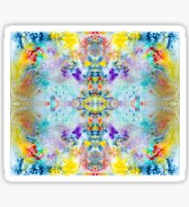 Eye catching vibrant colorful abstract symmetrical ink design pattern Sticker