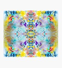 Eye catching vibrant colorful abstract symmetrical ink design pattern Photographic Print