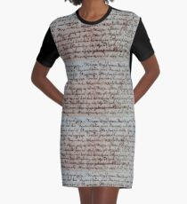 greek ancient writing Graphic T-Shirt Dress
