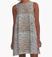 griechische antike Schrift A-Linien Kleid