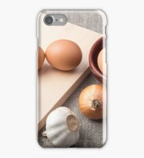 Ingredients for cooking in retro style iPhone Case/Skin