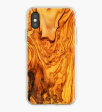 olive tree wood texture iPhone Case