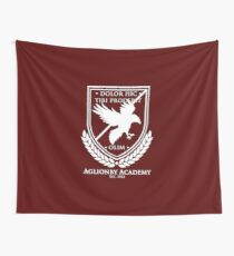 Aglionby Academy Crest, White Transparent Wall Tapestry