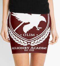 Aglionby Akademie-Wappen, weißes transparentes Minirock