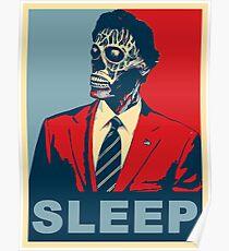 They Live - Sleep Poster