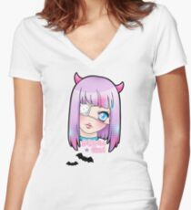 Kawaii Gurl Women's Fitted V-Neck T-Shirt