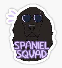 SPANIEL SQUAD (black) Sticker
