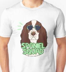 SPANIEL SQUAD (liver and white) Unisex T-Shirt