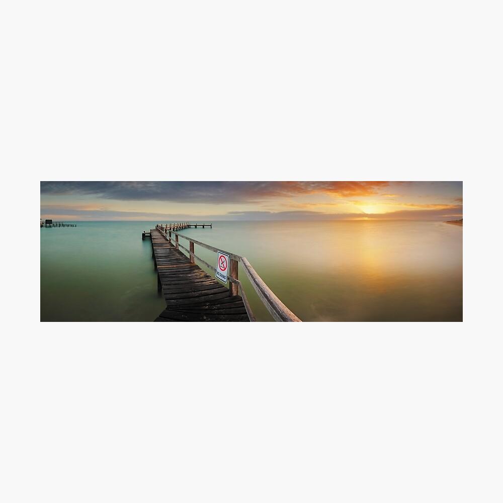 No Diving, Mornington Peninsula, Victoria, Australia Photographic Print