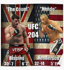 UFC 204- Bisping - Henderson Poster