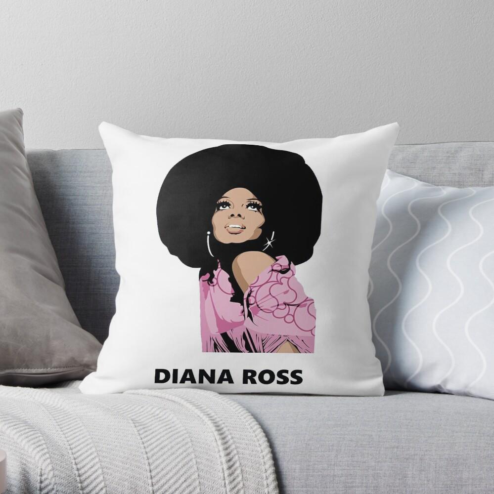 Diana Ross Afro Malerei Kunst heru Dekokissen