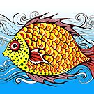 Fish Doodle #2 by Ann-Marie Cheung