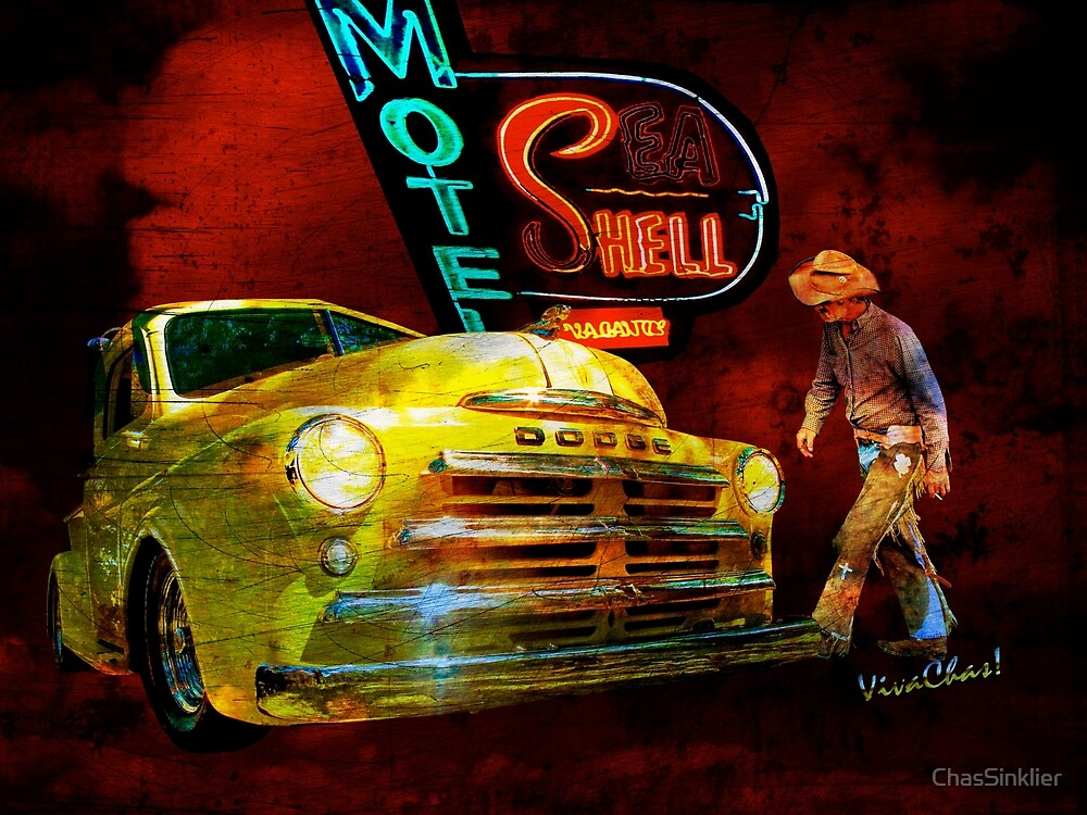 MoPar Cowboy Checks Out of Motel Shell by ChasSinklier