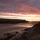 Sunset at Porth Joke Beach by John Dunbar