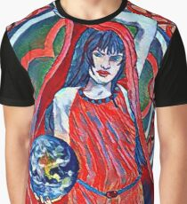 Gaia Is Coming Impression Graphic T-Shirt