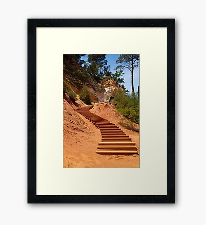 The Ochre Footpath - Roussillon Framed Print