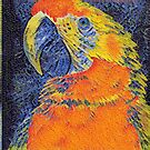 Orange Parrot Head mosaic by redqueenself