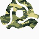 45 rpm vinyl adapter camo camouflage by forgottentongue