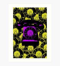 Vintage Purple Phone Art Print