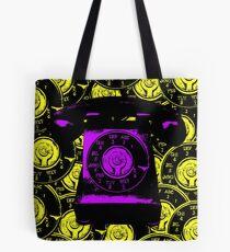 Vintage Purple Phone Tote Bag