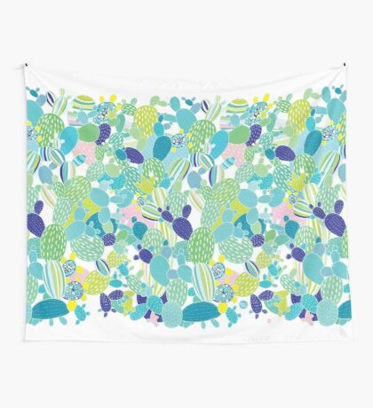 Cactus Mania Wall Tapestry