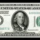 Old School 100 (Hundred) Dollar Bill by Rich Anderson