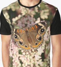 Buckeye Butterfly Macro Graphic T-Shirt