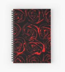 On a Bed of Roses Spiral Notebook