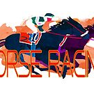 Colorful Horse Racing by Ginny Luttrell