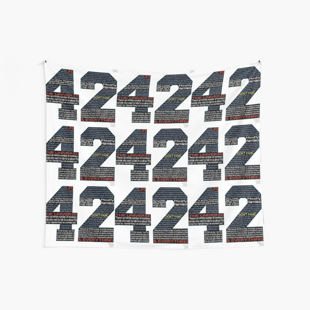Per Anhalter 42 Zitate Wandbehang
